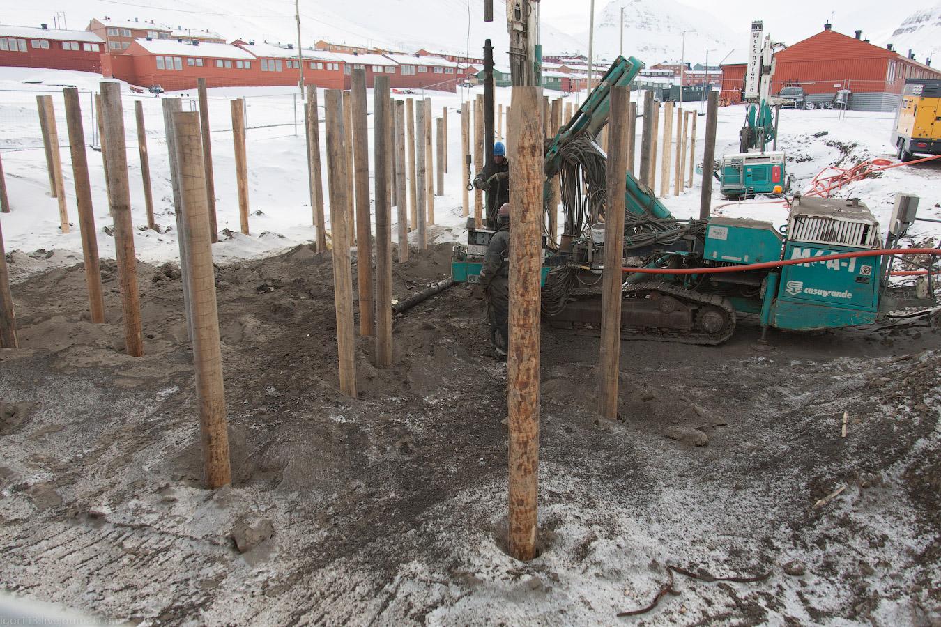 забивка деревянных свай