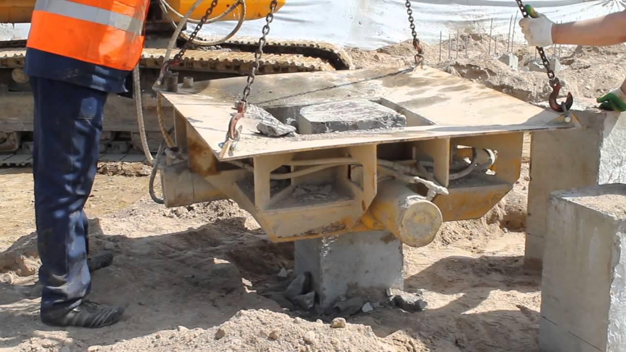 Обзор оборудования применяемого для срубки свай