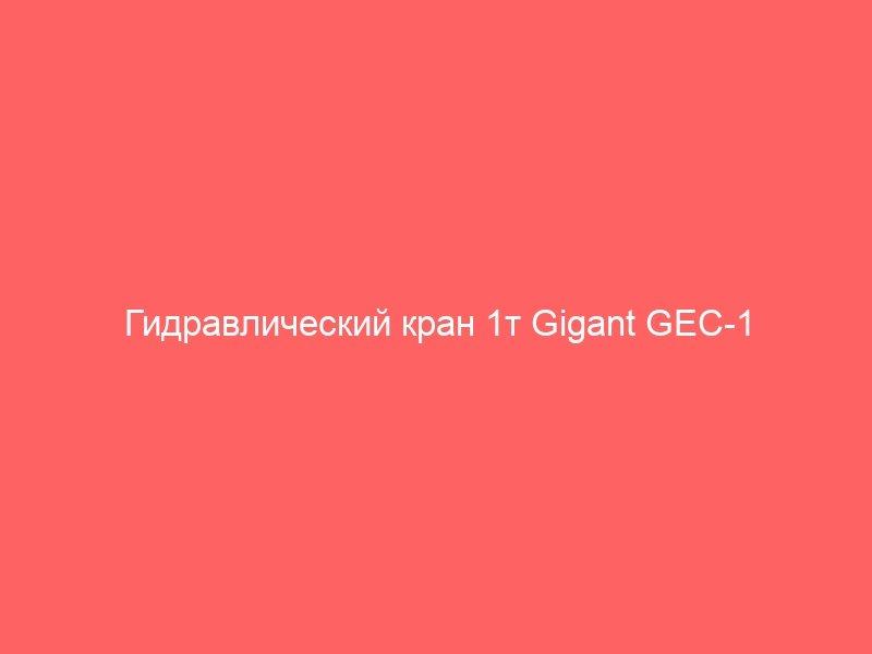 Гидравлический кран 1т Gigant GEC-1